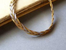 18k gold Necklace, Vintage Bridal, Hollywood, High fashion