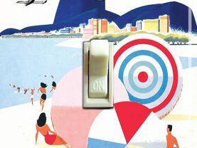 RIO BRAZIL Vintage Braniff Travel Poster Switch Plate (4 designs)