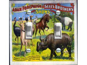 Vintage Circus Poster - Adam Forepaugh & Sell Bros.