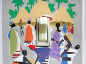 Air France Africa Vintage Travel Poster Switch Plate (Single)