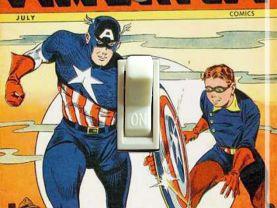 Captain America #57 Comic Switch Plate  (Single)