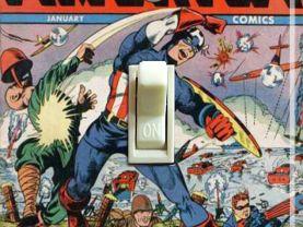 Vintage Captain America Comic #22 1943 Switch Plate (Single)