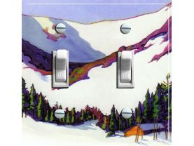 TUCKERMAN™S RAVINE Vintage Ski Poster Light Switch Plate (double)