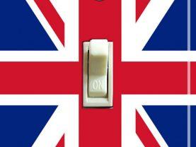 BRITISH Union Jack Flag Switch Plate (single)