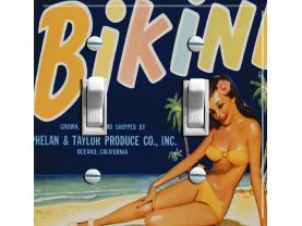 BIKINI Vintage Crate Label Switch Plate (double)