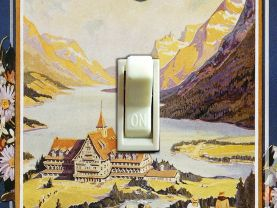 GLACIER National Park Vintage Poster Switch Plate (single)