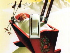 NORWAY Cradle Vintage Ski Poster Switch Plate (single)