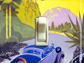 Visit GREECE Vintage Travel Poster Switch Plate (single)