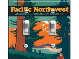 PACIFIC NORTHWEST Vintage Poster Switch Plate (double)