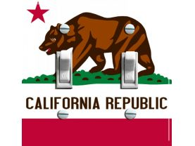 CALIFORNIA Flag Switch Plate (double)