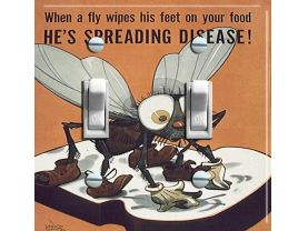 FLY GERM Vintage Poster Switch Plate (double)