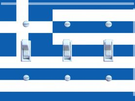 GREEK Flag Triple Switch Plate