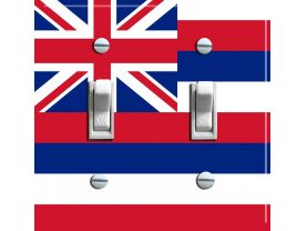 HAWAII State Flag Double Switch Plate