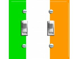 IRISH FLAG Double Switch Plate