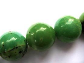 high quality  2strands 4-14mm genuine chrysoprase gems Round Ball  green chrysoprase beads jewelry beads