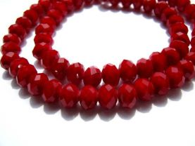 Matte Crimsone red Crystal 5strands 3x4 4x6 5x8 6x10mm Crystal like Swarovski  Rondelle Abacus Faceted  mixed beads
