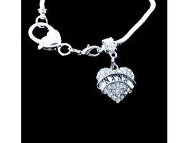 Nana Bracelet Nana gift Nana Lobster claw bracelet Best Nana gift. I love NANA Your other charms can be added to it to!