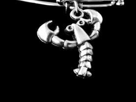 lobster bracelet lobster charm bracelet Maine lobster bracelet Ocean bracelet Nautical bracelet beach bracelet