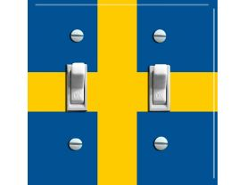SWEDEN Flag Double Switch Plate