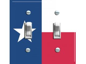 TEXAS State FLAG Double Switch Plate