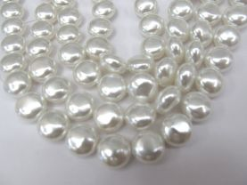 2strands 12mm pearl jewelry beads peach red white pearl beads round disc roudel coin necklace jewelry loose beads