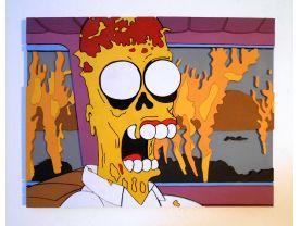 Handmade Homer Simpson wall art