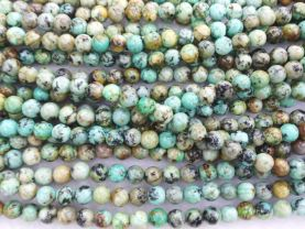 2strands 4-16mm Genuine African Turquoise beads  Turquoise stone Round Ball Green loose beads