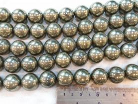 Pyrite bead high quality 2strands 3-20mm genuine Raw pyrite  crystal  round ball polished  iron gold pyrite necklace loose beads