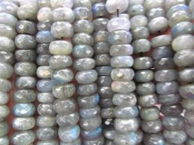 High quality 2strands 3-12mm  Natural Labradorite  Rondelle Roundels Abacus Faceted  Grey Blue  Flashy Loose Bead