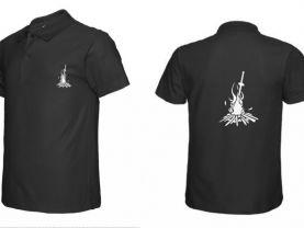 Dark Souls Inspired Bonfire Flocking Cotton POLO T-Shirt Tee