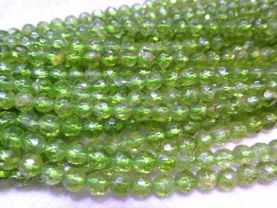 100% Peridot Briotettes round ball faceted peridot gemstone green gemstone 3 4 5 6 7 8mm full strand