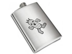 Final Fantasy CACTUAR  Liquor Stainless Steel Flask - 8 oz