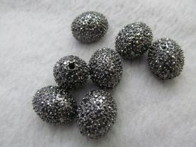 high quality 12pcs 18x22mm Pave Micro Rhinestone Brass  Crystal Connector ,Rice Drum Hematite Gunmetal silver gold mix Finding