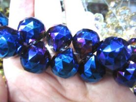 high quality 20mm 30mm Crystal like Swarovski drop  cube Faceted AB mystic rainbow  purple grey blue loose bead beads