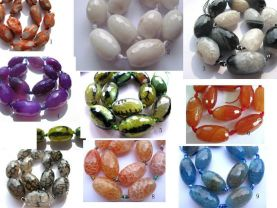 natural agate 2strands 18X25mm genuine Tibetant Agate  Rice barrel brown black green white black cracked faceted  jewelry beads
