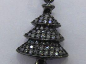 Top Quality 12Pcs 18-30mm CZ Micro Pave Diamond Christmas tree gunmetal earrings charm jewelry
