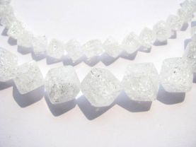 20%off--AAA grade 3strands 6-12mm cube genuine rock quartz  bead box square  cracked white spacer  beads