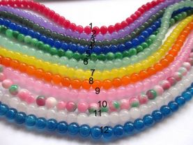 batch 10strands 6 8 10 12mm natural  Jade Beads  Round Ball oranger yellow chery pink red   Asssortment jewelry bead
