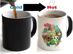 Animal Crossing Color Changing Ceramic Coffee Mug CUP 11oz