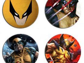 Wolverine Set Of 4 Wood Drink Coasters