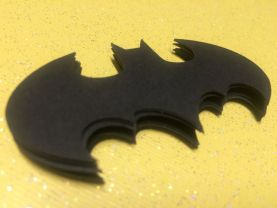 24 Batman Batgirl Bat Logo Cutouts