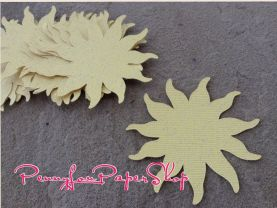 25 Tangled Rapunzel Shimmery Sun Cutouts - different sizes
