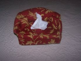 Sofa Shaped , Tissue Holder , 2 Matching Pillows , Novelty , Fabric Craft , Accessory , Completely Machine Stitched