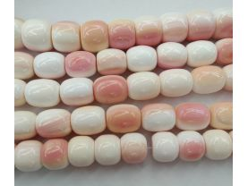 High Quality Natural Pink  Conch Shell jewelry Baby Pink Barrel Drum  Conch Necklace Beads 8-20mm full strand