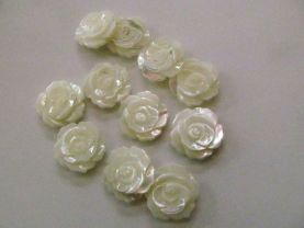 12pcs 20mm  MOP shell flower, jewelry supply, white shell carving flower, carving Peatal flower,shell rose--half drilled