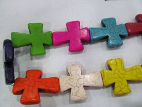 10-50mm 16inch howlite Turquoise  stone  turquoise cross pendant cross ring focal Assorted Turquoise Beads