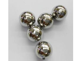 Toop Quality 100pcs 4-12mm 18K Plated  seamless round beads,Round Ball Solid Brass Bead, Rose Gold,Silver Gunmetal Spacer beads