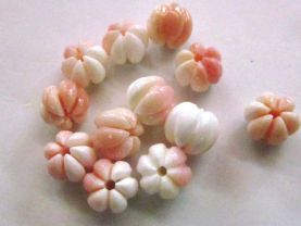 high quality Conch Shell jewelry Pink Round Carved Fluorial Conch Beads 8-12mm full strand