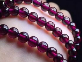 AA Rated Genuine (Natural) Garnet Beads Round Ball Rhodlite Rose  red Garnet Gemstone 3-8mm full strand