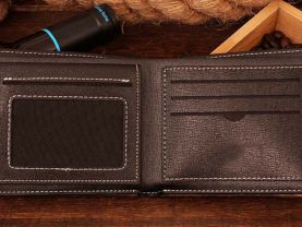 Leather Wallet  pac man